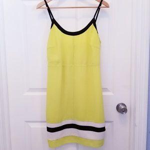 Yellow Black dress w/ adjustable straps